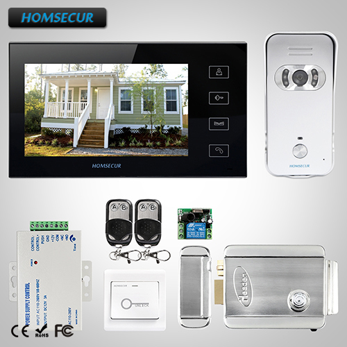 HOMSECUR 7 Wired Video Audio Home Intercom Monitor for Home Security TC021 S Camera TM704 B