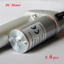 6pcs/lot 12v DC Motor 10mm/s=0.4inch/s Speed Mini Electric Linear Actuators Waterproof DC Motor LA