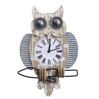 Vintage Owl Wall Clock Watch American Country Style Wall Clocks Wall Ornament Decoration For Home Decor