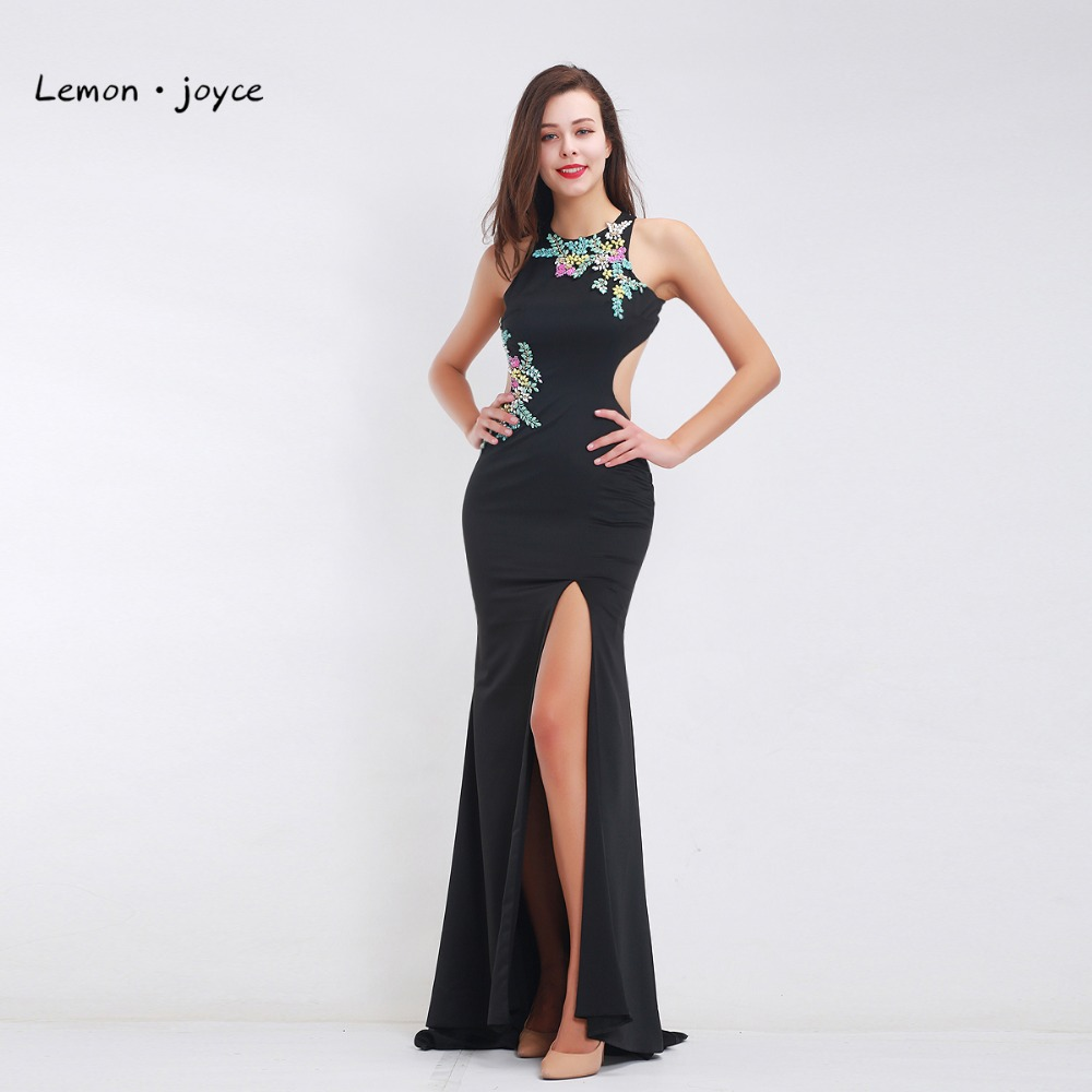 Aliexpress.com : Buy Vintage Black Evening Dresses Long 2018 Elegant ...
