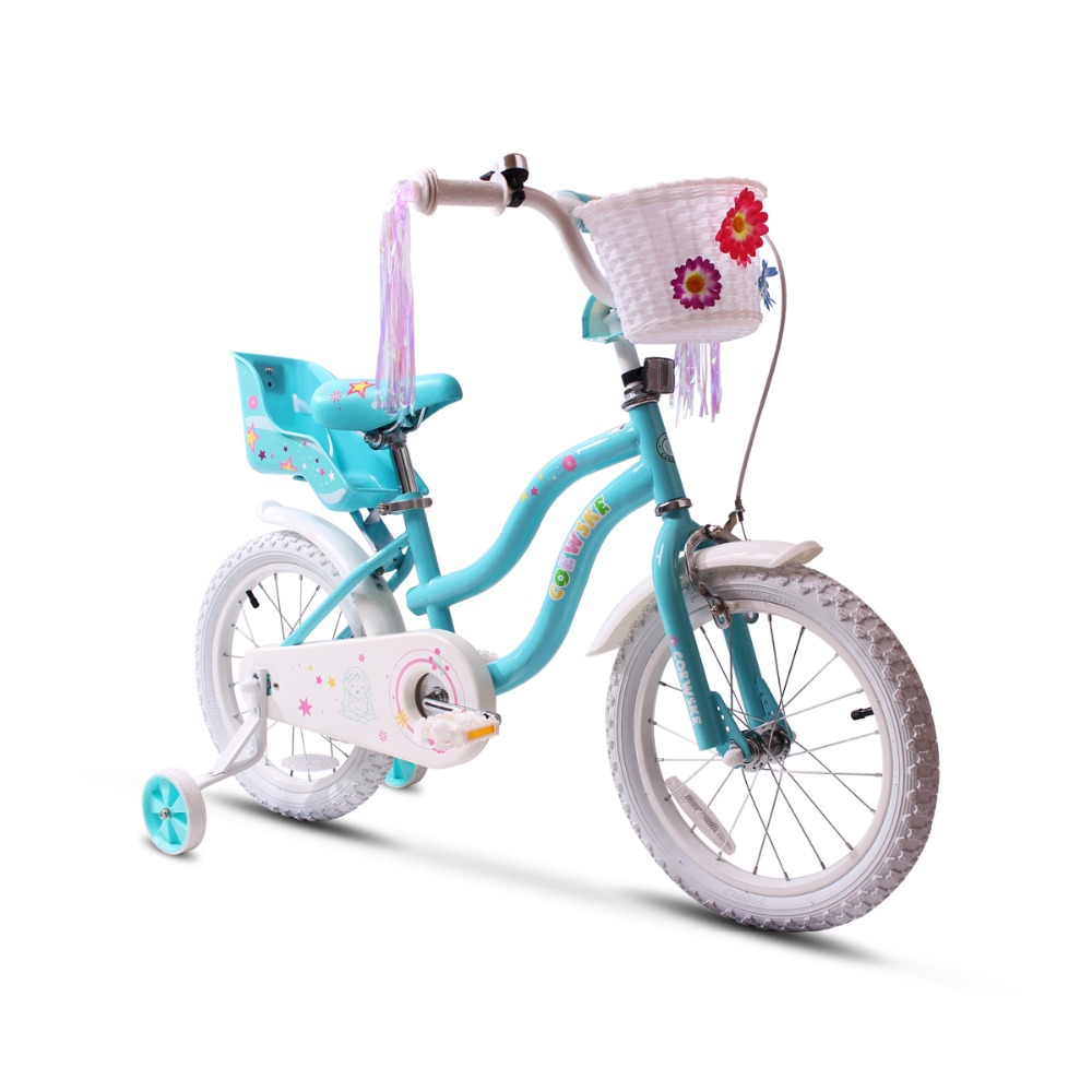 Kid's Bike Steel Frame Children Bicycle Little Princess Style 14-16 Inch With Training Wheel