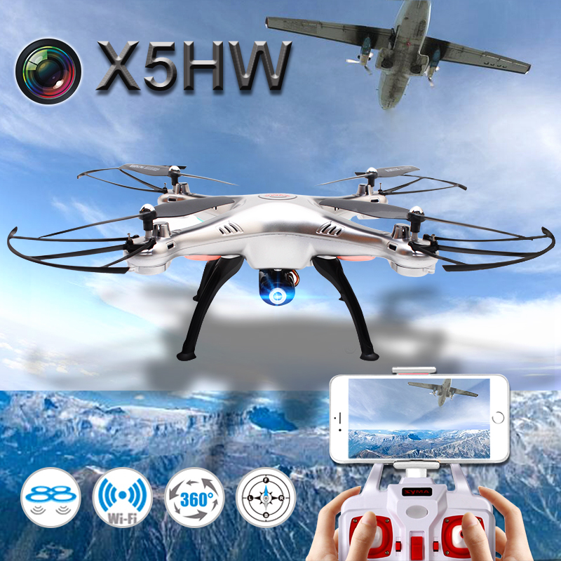 Syma X5HW FPV RC Quadcopter Drone with WIFI Camera 2.4G 6-Axis VS Syma X5SW Upgrade RC Helicopter with 2 battery with two batteries yuneec q500 4k camera with st10 10ch 5 8g transmitter fpv quadcopter drone handheld gimbal case
