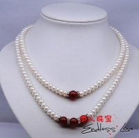 TWO ROWS STYLE!!! Pearl Necklace, wedding/bridal/female/women's/girls'/lady's Jewellery Accessory+Free Shipping