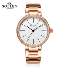 SOLLEN Luxury Watches Women brand simple design waterproof automatic mechanical watch Women stainless steel Upscale Wristwatches