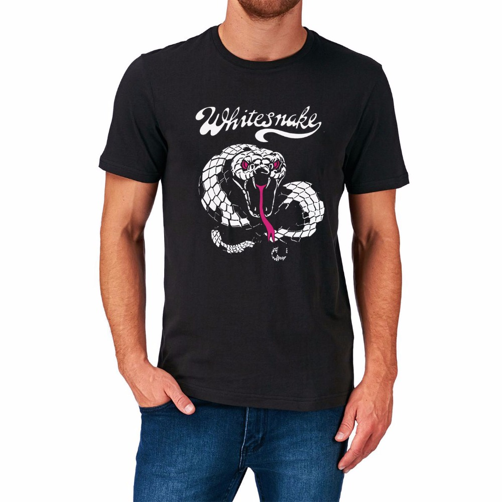 T shirt whitesnake - 2017 New 100 Cotton Top Quality T Shirt Manufacturers Whitesnake Rock Band Retro Vintage Top Music Birthday Present T Shirts