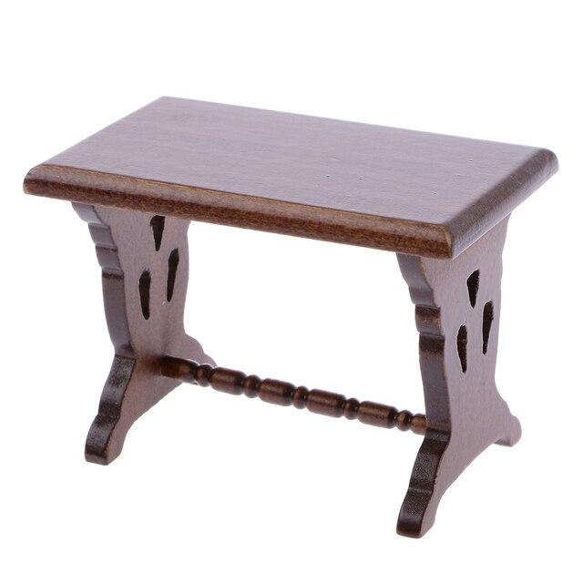 Hohe Qualität Dollhouse Miniature 1:12 Skala Holz Beistelltisch ...