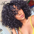 Short Wigs For Women Kinky Curly Synthetic Wigs For Black Women Perruque Synthetic Women Pelucas Sinteticas Natural Black Wig