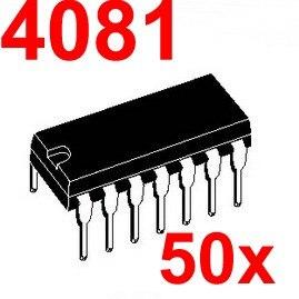 ( 50 pcs/lot ) 4081 CMOS Logic IC, DIP Package.