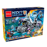 Lepin 14031 Nexus Knights Building Blocks Set Jestro S Monstrous Monster Vehicle Kids Bricks Toys Compatible