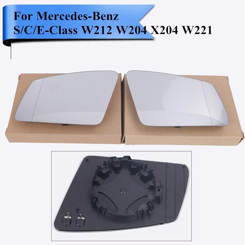 1 paire de rétroviseur de voiture côté aile de lunettes pour Benz W212 204 221 verre clair