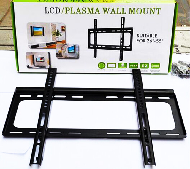 "2016 Wall Mount Flat Screen Bracket with Max 110lbs Loading Capacity TV Flat Panel Fixed Mount for 26"" ~ 55"" LCD LED Plasma TV"