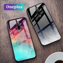 GFAITH For Oneplus 7 Pro Case Tempered Glass With Starry Gradient Design Phone Cover For Oneplus 7 Funda Coque