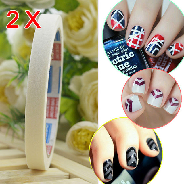 2pcs Nail Art Adhesive Tape 05cm Creative Design Nail Stickers