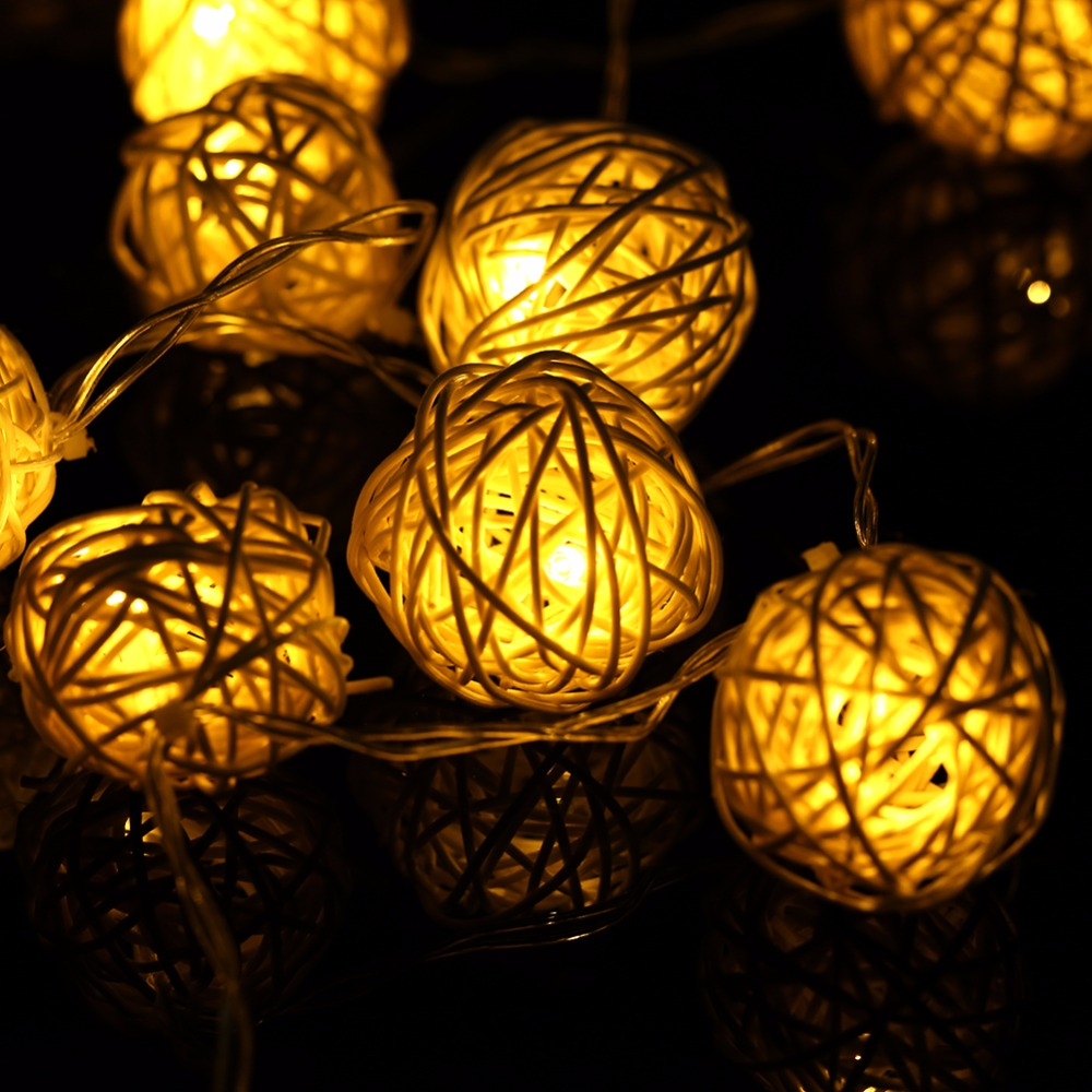 등불 공 펜 던 트 문자열 Led 조명 20 LED 따뜻한 흰색 - 휴일 조명 - 사진 3
