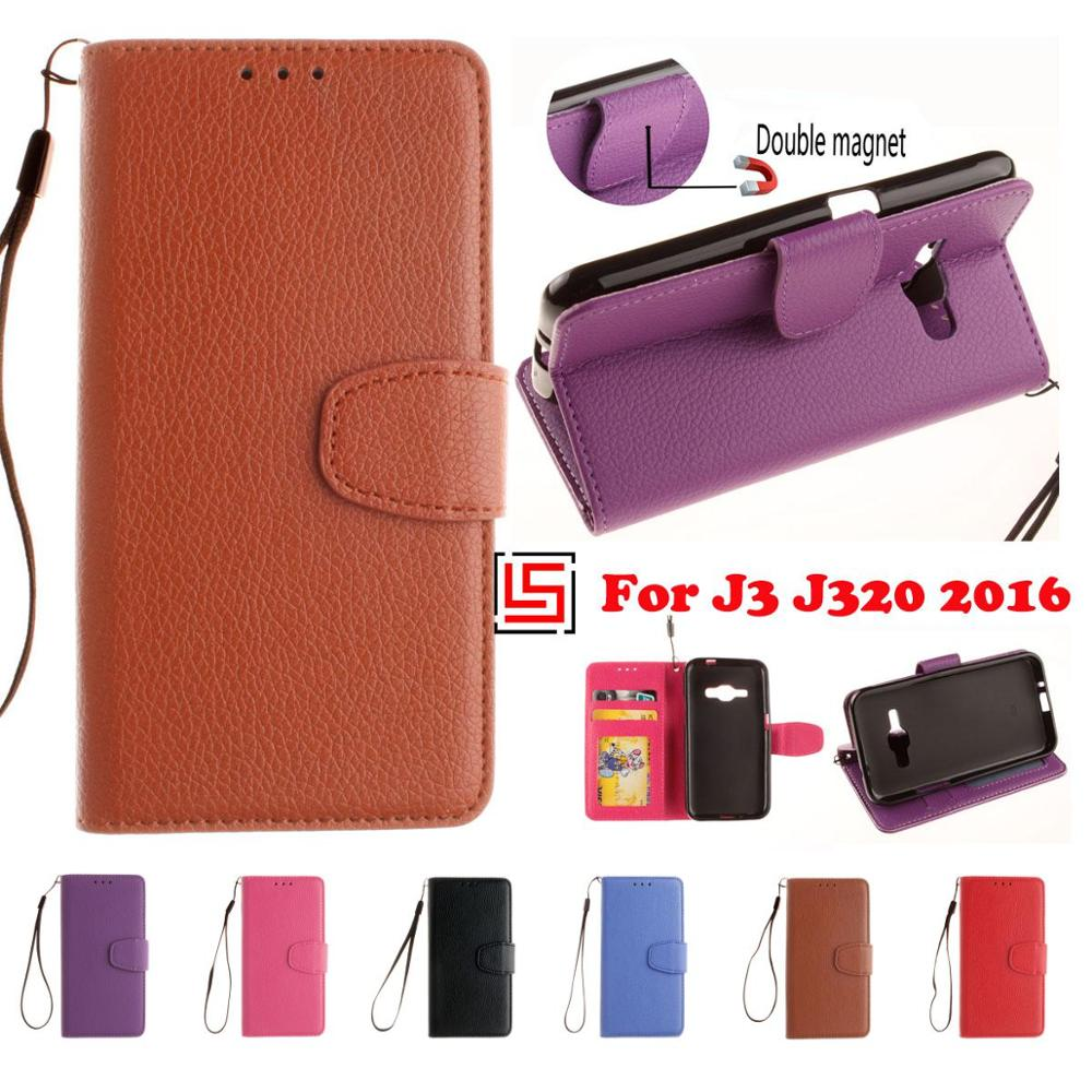 Best PU Leather Lether Flip Filp Wallet Wallt Phone Cell Case etui kryty Cover Bag For Samsung Galaxy J3 2016 J 320 J320F J320