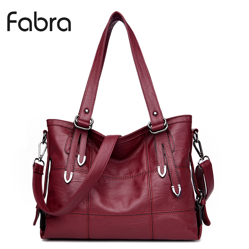 Fabra Women PU Hobo Bag Fashion Shoulder Bag High Quality Handbag Casual Large Capacity Tote Female Vintage Crossbody Bag Red high quality travel canvas women handbag casual large capacity hobos bag hot sell female totes bolsas ruched solid shoulder bag