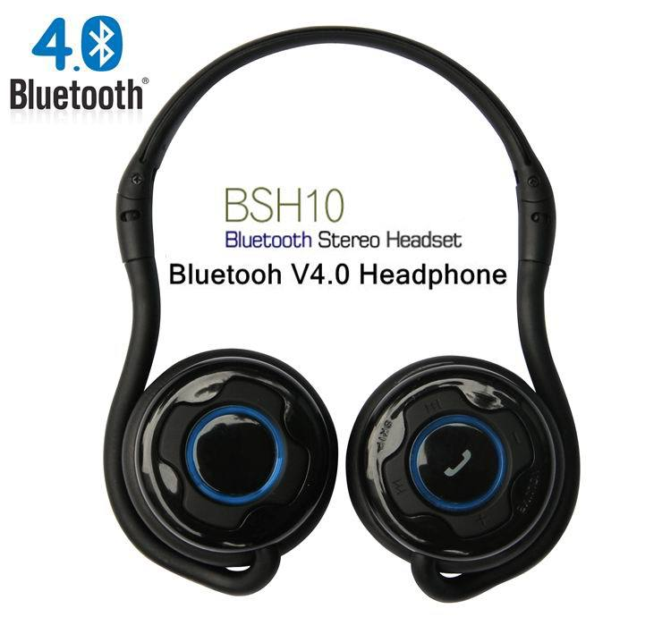Newest BSH10 Headset Bluetooth4.0+EDR Noise Cancellation Callmate Folding Stereo BSH-10 Sports Headphone& Mic for iphone/Samsung universal wireless bluetooth 4 0 edr headset headphone with noise cancellation handsfree stereo a2dp earphone for iphone samsung