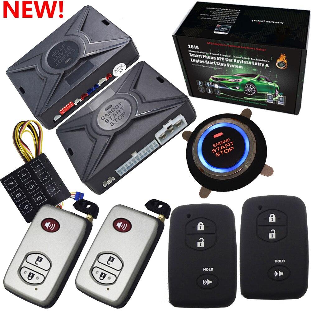 Choc capteur système d'alarme de voiture sans clé verrouillage automatique ou déverrouiller la porte de voiture bypass sortie pour puce clé antidémarrage voiture code de saut