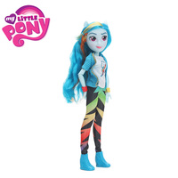 2018 My Little Pony Toys Equestria Girls Rainbow Dash Fluttershy Twilight PVC Action Figures Pony Classic Style Collection Dolls