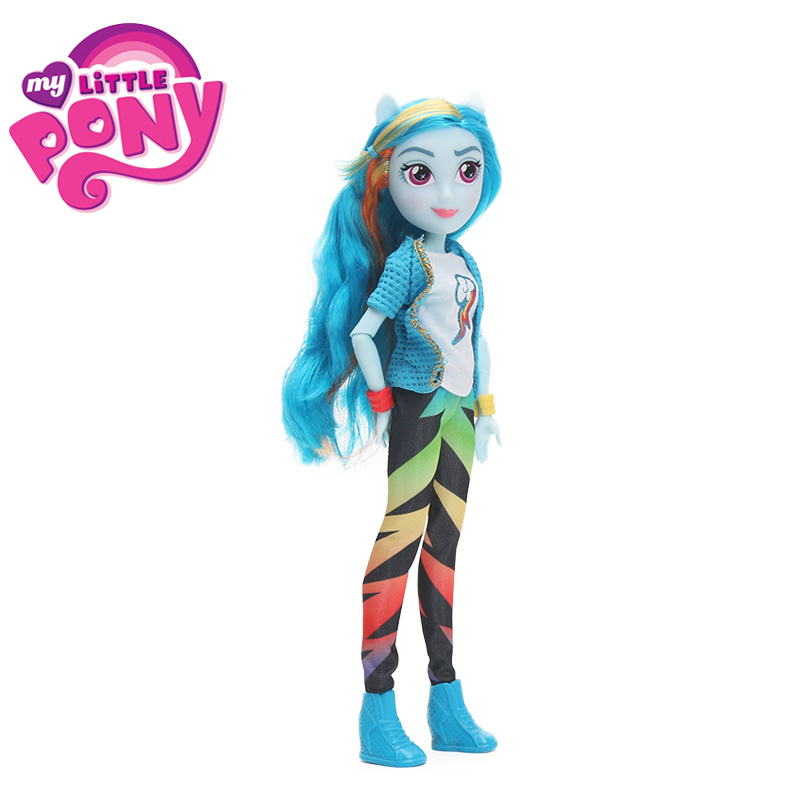 My Little Pony Toys Equestria Girls Rainbow Dash Fluttershy Twilight PVC Action Figures Pony Classic Style Collection Dolls