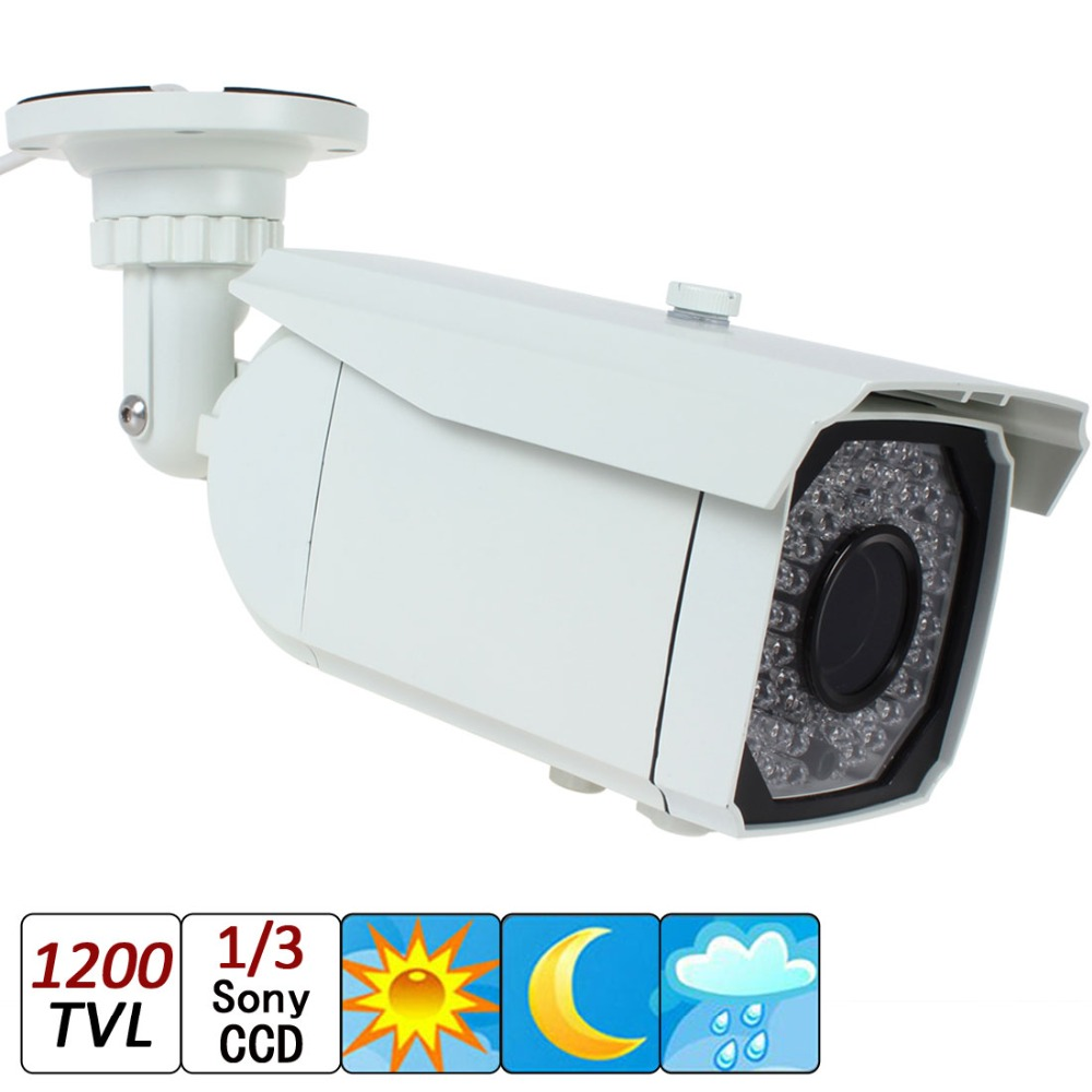 1/3 Sony Super HAD CCD II + Effio-E DSP 1200TVL Outdoor Infrared Night Vision CCTV Security Camera with OSD Menu Function