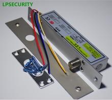 LPSECURITY sécurité boulon de chute électrique dc 12v, prise de porte étroite, verrouillage daccès, 5 fils, minuterie, verrouillage à faible température