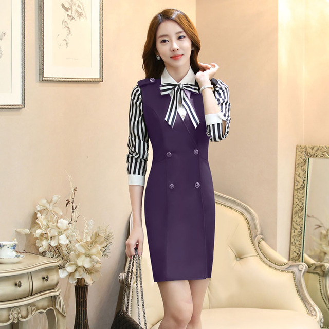 Novelty Purple 2016 Spring Autumn Professional Business Women Suits