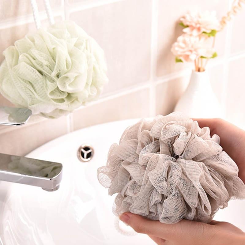 Loofah Bath Ball Mesh Sponge 1 PC Milk Shower Accessories Bathroom Supplies PE Bath Flower Soft 4