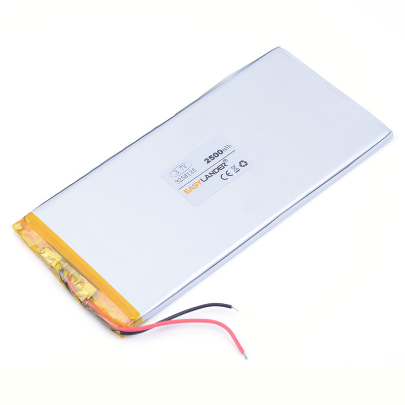 <font><b>3.7V</b></font> <font><b>2500mAh</b></font> 3258135 <font><b>LiPo</b></font> Rechargeable <font><b>Battery</b></font> Lithium Polymer For phone Mp3 GPS PSP PAD MID DVD Power bank Speaker image