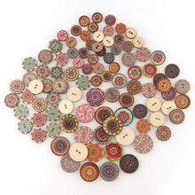 50 шт. 4 размера пуговицы из натурального дерева круглые спиральные швейные пуговицы Скрапбукинг 2 отверстия Швейные аксессуары для детей