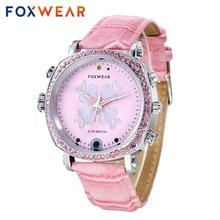 FOXWEAR F26 Women Girls Fashion Sports Wristwatch Recorder Photographing Remote Control WIFI Video Night Vision Smart Watch Pink