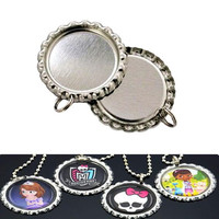 Flat Bottle Caps Beer Crafts With Hole And Ring For DIY Jewelry Accessories With Hole And