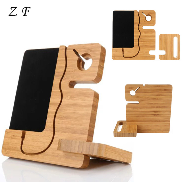 Universal Splicing Wooden Phone Stand Holder Charging