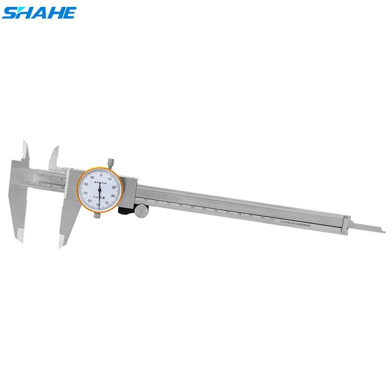 SHAHE 0 200 mm 0 01 mm Shock proof Dial Caliper Vernier Gauge Dial Caliper Steel