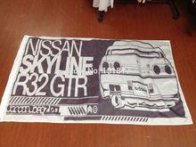 Custom Skyline R32 GTR Sketch Flag & Banner 3X5ft 90x150cm 100% Polyester Printing Flags & Banner Home Decorations & Sports Flag