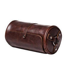 Famous Brand Leather Men Bag Casual Business Leather Mens Messenger Bag Vintage Men's Crossbody Bags Male Cylinder Bags