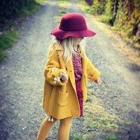2015 New Brand Phoebee Fashion Kids Warm Sweaters ChildrenTurn Down Collar Woolly Pullovers Girl Knitwearcardigans Girls