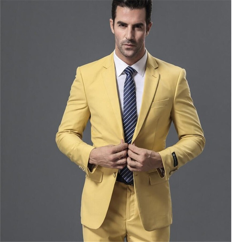 Top Selling Custom New Arrival Men Suit Fashionable Formal Business Suit Long-Sleeved Wedding Suits ( Jacket + Pant )