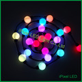 Soluções ipixel LED 50mm alta lumen DMX512 rgb led pixel corda bola redonda em iluminação do feriado