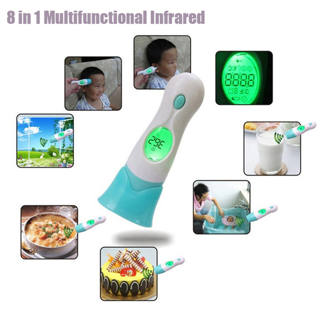 8 in 1 Infrared Baby Multi-functional Thermometer Health Monitors Baby Adult Child Digital Body Ear Termometro Diagnostic-tool