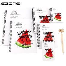 EZONE 1PC Fresh Fruits Hard Cover Coil Notebook Cute Planner Study Diary Notepad Creative Escolar Papelaria