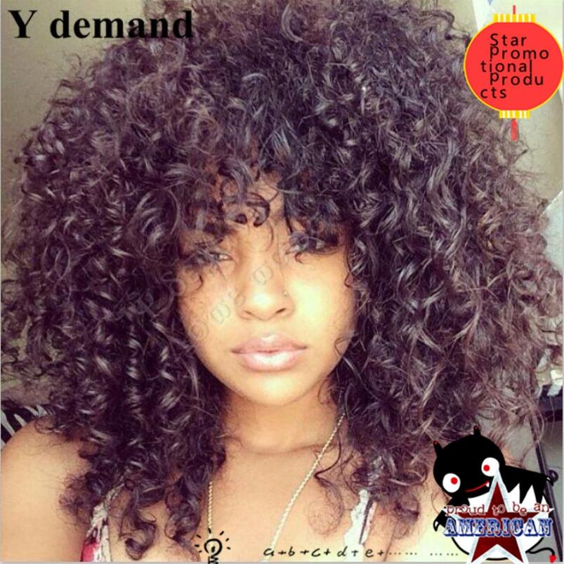 Free PP bags rihanna bang wigs hair style Curly High