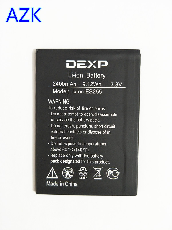 AZK NEW 3.8V 2400mAh Replacement Battery For DEXP Ixion