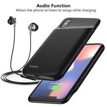 Внешний Назад Клип резервного копирования 4000 мАч запасные аккумуляторы для телефонов зарядки чехол для iPhone X XS батарея зарядное устройство Чех