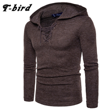 T-Bird Brand 2017 New Mens Sweater Fashion Hedging Knitting Wind Fashion Rope Sweater Clothing Male S-2XL