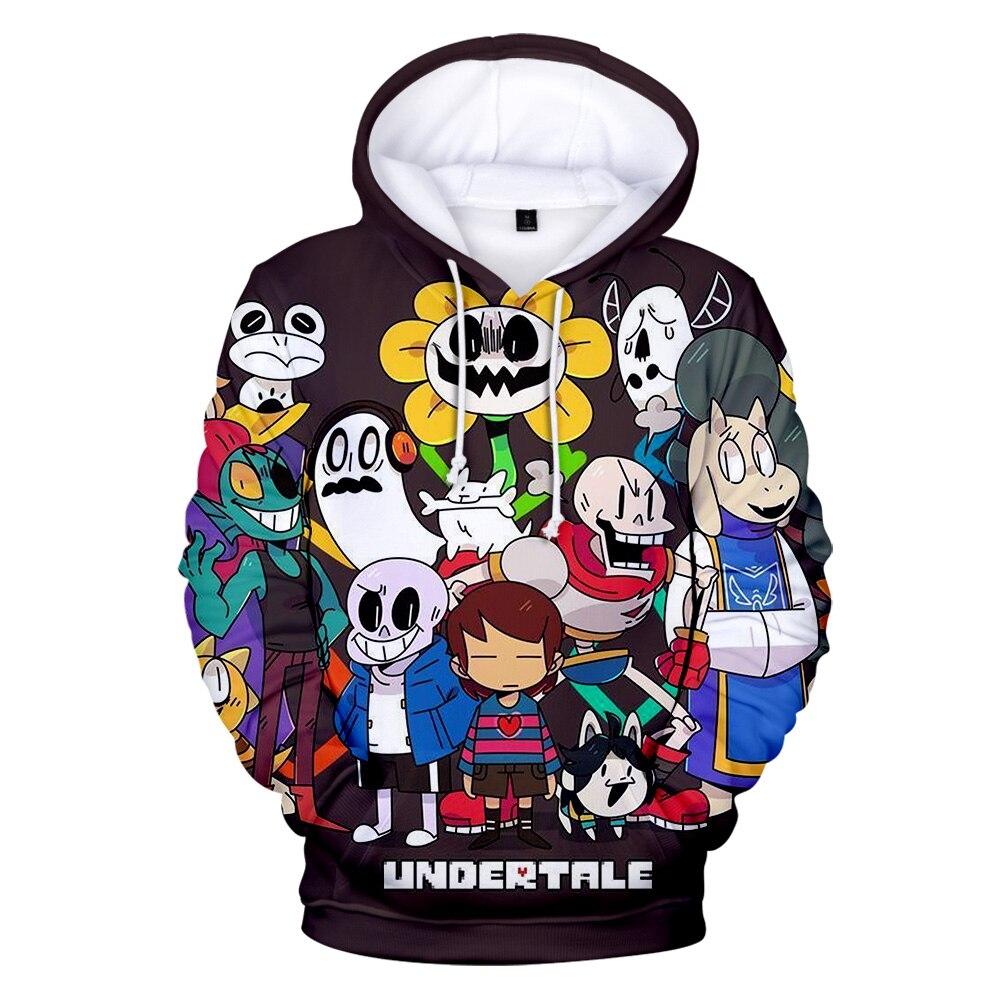 Hot Sale Game Undertale 3D Hoodies Sweatshirts Boys/girls Funny Kawaii Harajuku Style Autumn Warm 3D Undertale Pullovers Clothes