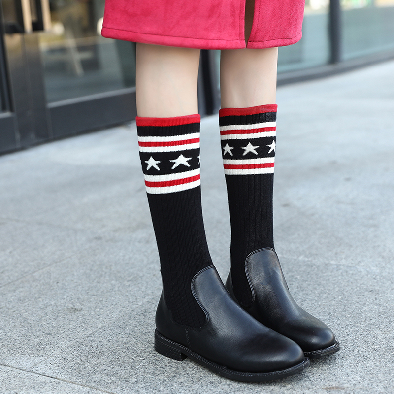 Brand Sock Boots Women Over The Knee Boots Shoes Woman Autumn Winter Knitted Shoes Long Thigh High Boots Elastic Slim Size 35-40