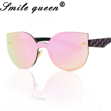 Fashion Classic Sunglasses Women Rimless Cat Eye Sun Glasses Brand Designer Conjoined Summer Style Lady Sun Glasses HD UV400