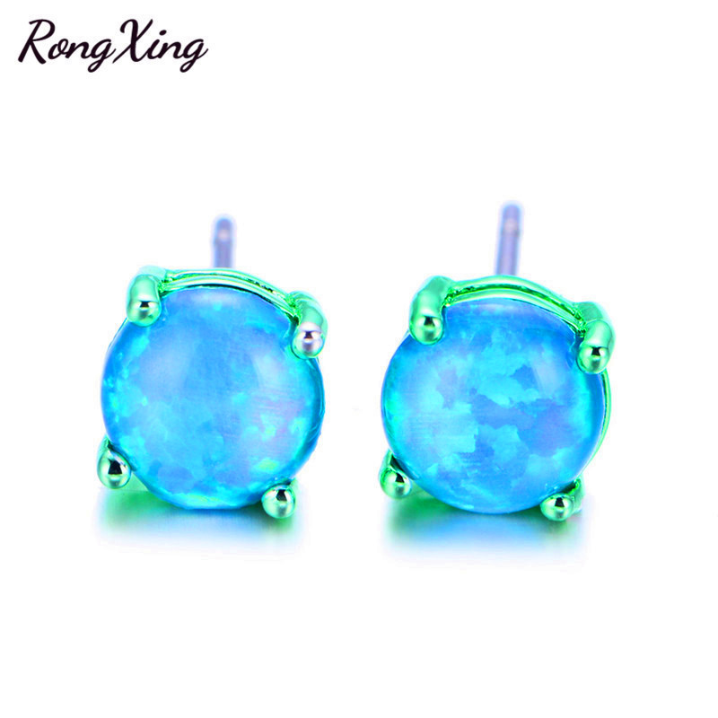 filled blue fire junxin black oceans products with fashion earring jewelry double opal save turtle studs our opals stud female delacroix small gold