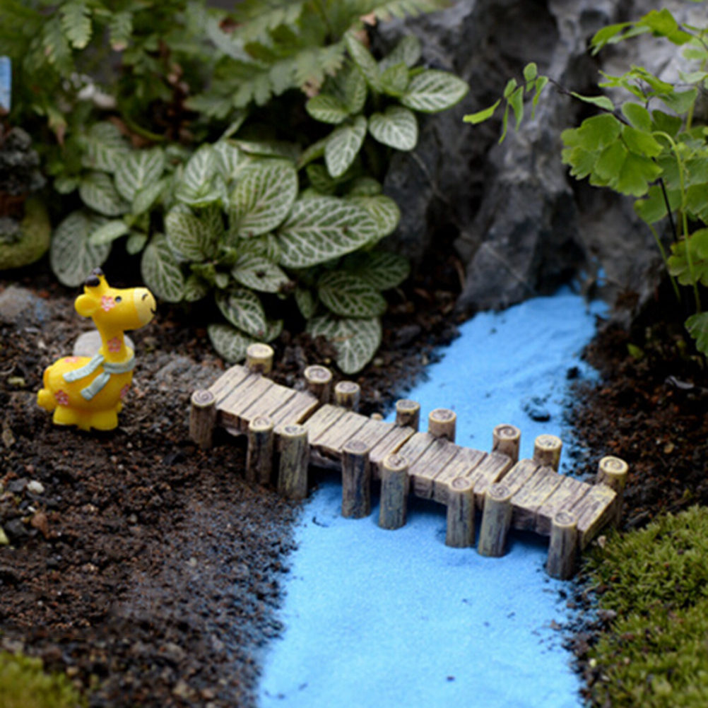 Witching Artificial Vintage Bridge Mini Craft Miniature Fairy Garden Home Decorationhouses Micro Landscaping Decor Diy Accessories Figurines Artificial Vintage Bridge Mini Craft Miniature Fairy Garden